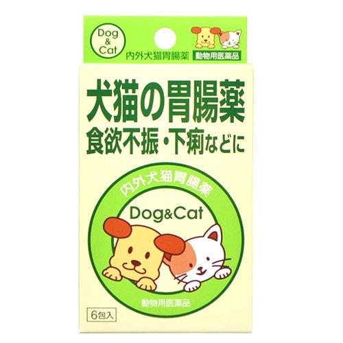 ナイガイ 内外犬猫胃腸薬 6袋入 (動物用医薬品)