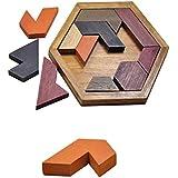 【ノーブランド品】マルチ 木製 タングラムパズル 子供 知育玩具 知力を開発 飾り ギフト