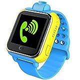 (日本規製品)子供用WCDMA 3G通話機能 腕時計SOS GPS WIFI カメラ搭載3 G Smart watch GPS Tracker kids Watch SOS GSM Mobile Phone App For IOS & Android Smartwatch Wristband(Blue)