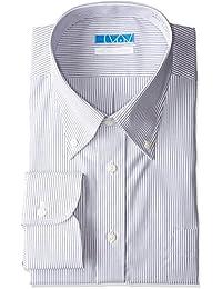 [ドレスコード101] スマシャツ 洗って干してそのまま着る ノーアイロン ワイシャツ 長袖 形態安定 綿100%-シャツ EATO22 メンズ