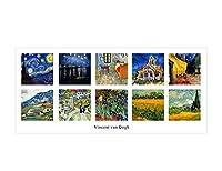 """Alonlineアート–Starry Night Alpes階段Cafe Church Nightコラージュ10Vincent van Goghキャンバスの印刷( 100%コットン、フレームなしunmounted ) 78""""x35"""" - 198x89cm VM-VNG124-STK0F00-1P1A-78-35"""