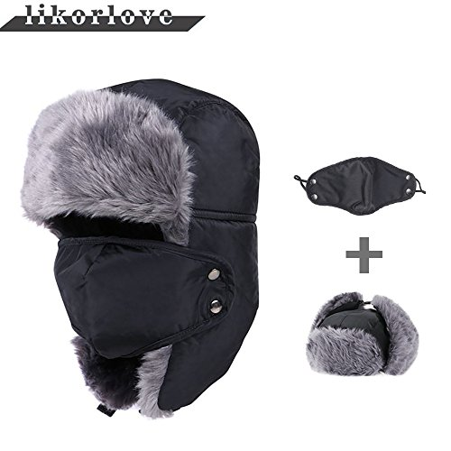 Likorlove 防寒帽子 マスク付き