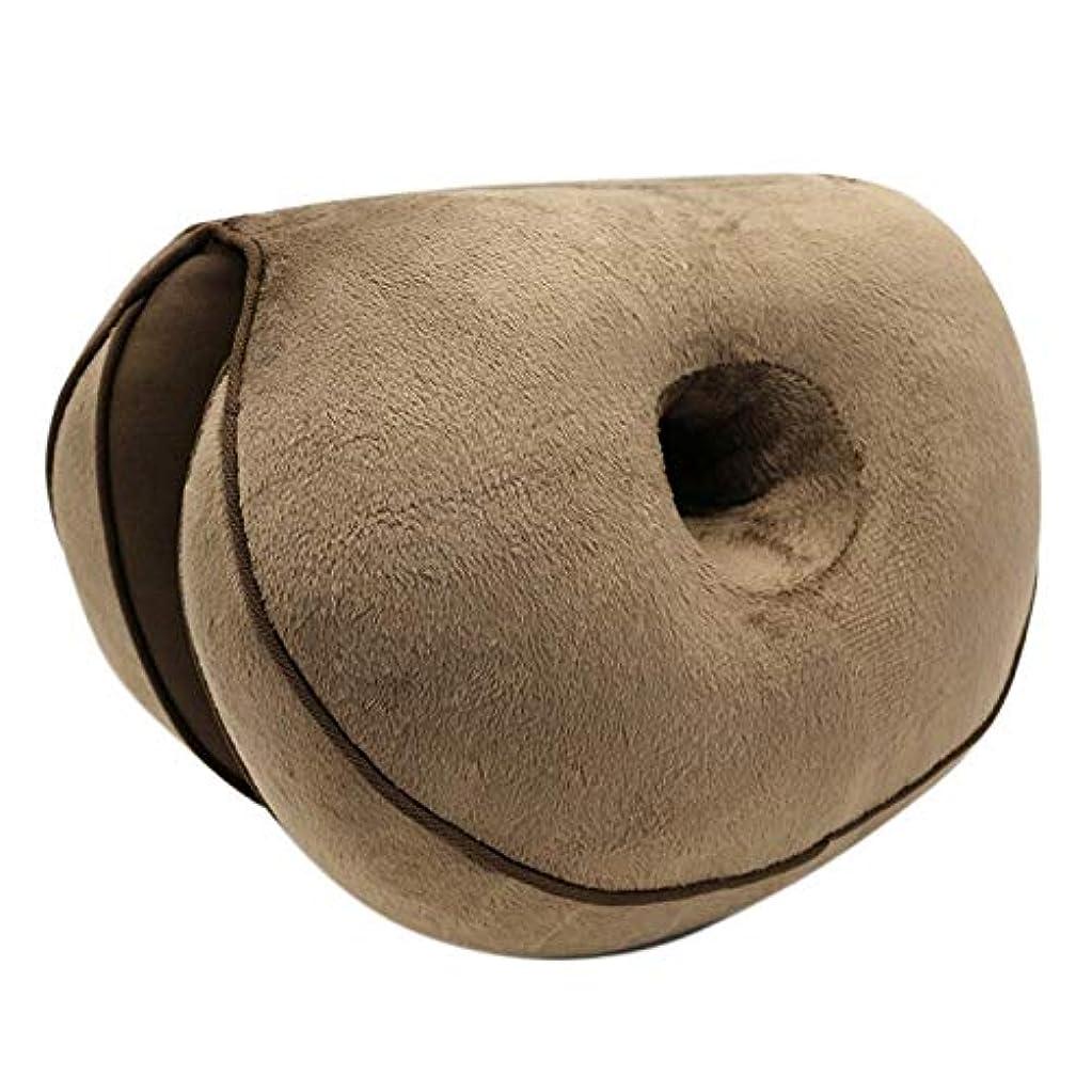 スノーケルサンダルうぬぼれたLIFE ダブル快適クッションぬいぐるみリフトヒップアップシートクッション折りたたみ枕保存することができる圧力リリーフでは、車、ホーム、オフィス クッション 椅子