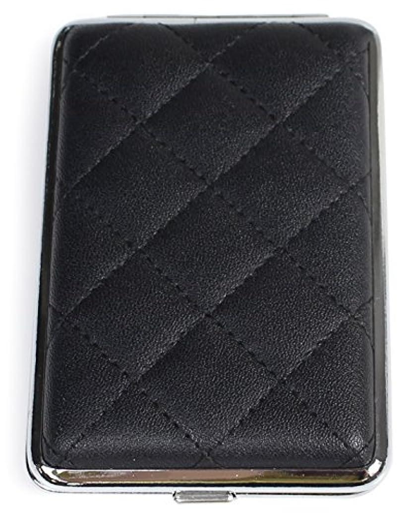 ファンド新着かすかなDUCKBILL(ダックビル) タバコケース キルティング シガレットケース 12本収納 ブラック