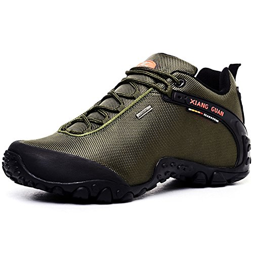 XIANGGUAN 登山靴 メンズ トレッキングシューズ ハイキングシューズ 防滑 アウトドアスニーカー グリーン 30CM 81283