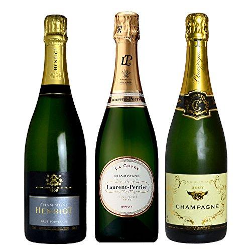 本格 シャンパン ワイン セット 高級 辛口 シャンパーニュ 飲み比べ 3本セット