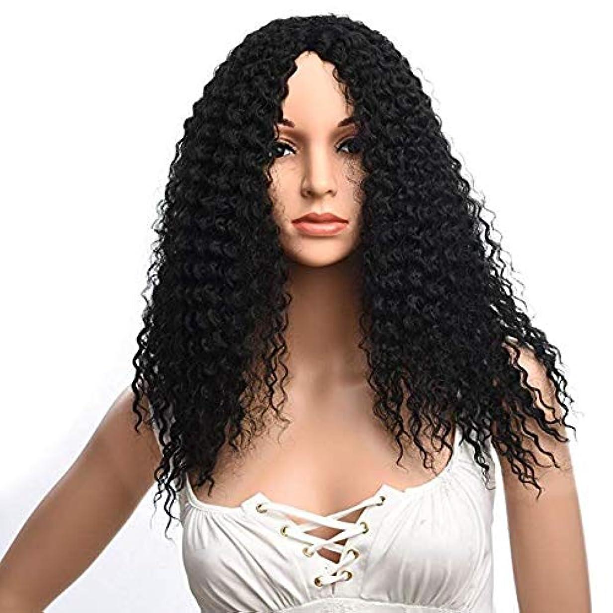 ゴムワイプ適用済み女性の肩短い髪ふわふわ高温シルクファッションかつら