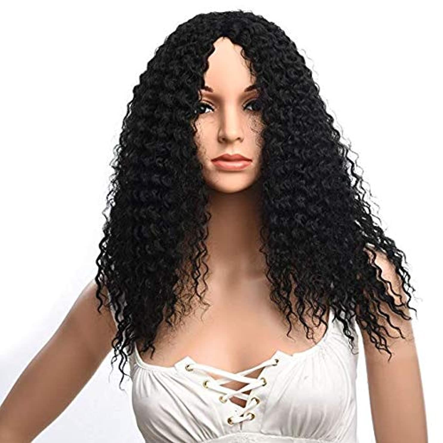 余分な噴出する感性女性の肩短い髪ふわふわ高温シルクファッションかつら