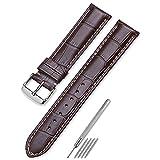 CHIMAERA 20mm時計バンド 交換ベルト 本革 腕時計 ストラップ尾錠 スチールスプリングバーバック いろいろな色選択ことができます(12 色)ブラウン ベージュ2