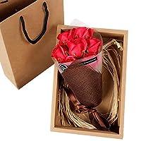 バラ ソープフラワー ベア 枯れない花 石鹸 花 バラ 造花 花束くま束 创意プレゼント デートお礼用 バレンタインデー Xchumot