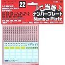 ディティールアップシリーズ Dup-22 ご当地ナンバープレートデカール