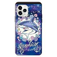 iPhone11Pro iPhoneケース (ハードケース) [カード収納/耐衝撃/薄型] ECONECO (エコネコ) Shark スマホケース 携帯電話用ケース アイフォンケース CollaBorn