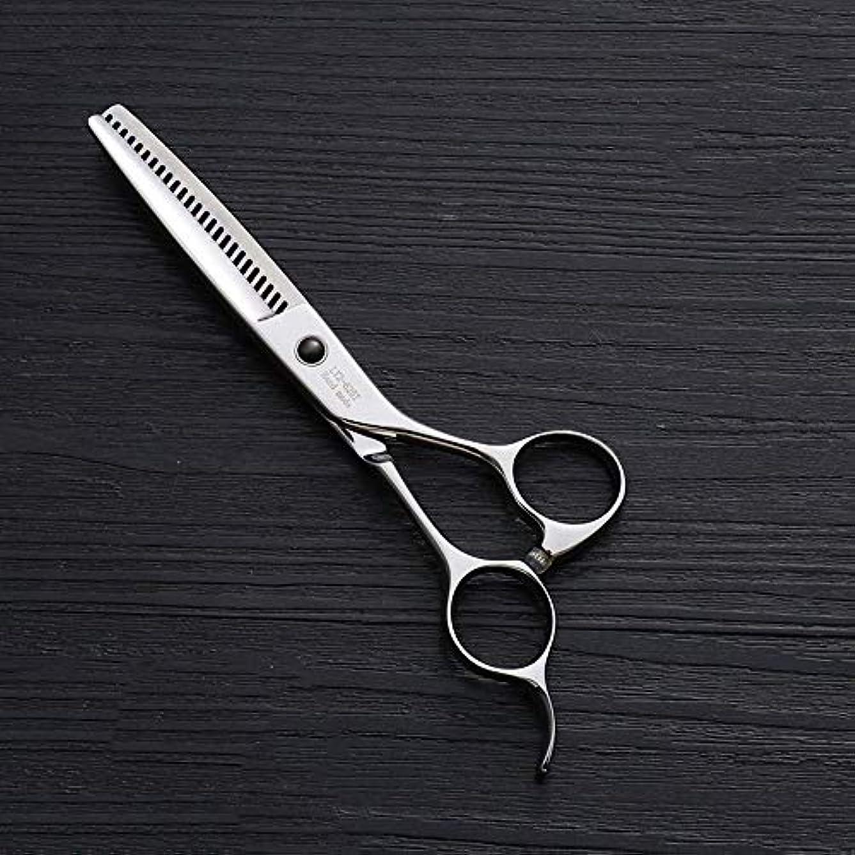 貧しいにおい無意識440Cステンレス鋼ハイエンドヘアカットツール、25歯T型6インチ美容院プロフェッショナル理髪はさみ ヘアケア (色 : Silver)