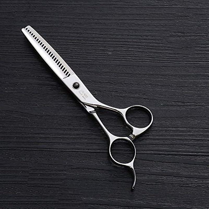 にやにや日の出精緻化440Cステンレス鋼ハイエンドヘアカットツール、25歯T型6インチ美容院プロフェッショナル理髪はさみ ヘアケア (色 : Silver)