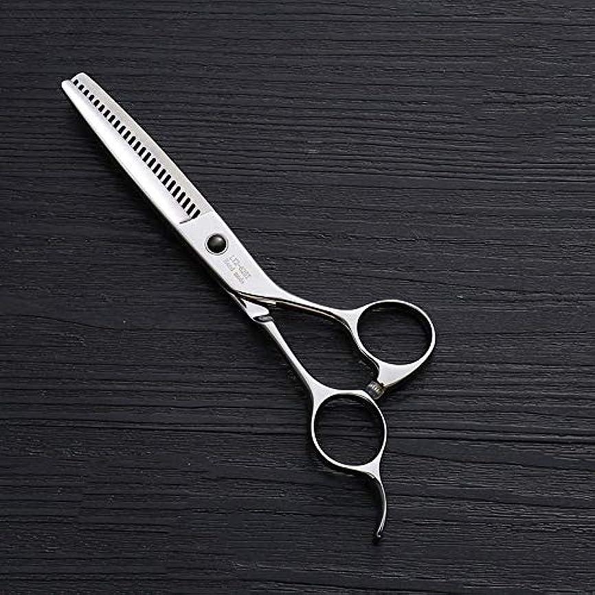 砂漠歪める抜け目がない440Cステンレス鋼ハイエンドヘアカットツール、25歯T型6インチ美容院プロフェッショナル理髪はさみ ヘアケア (色 : Silver)