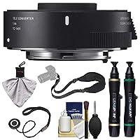 Sigma TC - 14011.4X Teleconverter (for Canon EOSカメラ) withスリングストラップ+クリーニングキット