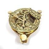 """4インチ(10cm) サンデル・コンパス(羅針盤) - ソリッド・ブラス・サンダイヤル/ 4"""" Sundial Compass - Solid Brass Sun Dial(並行輸入品"""