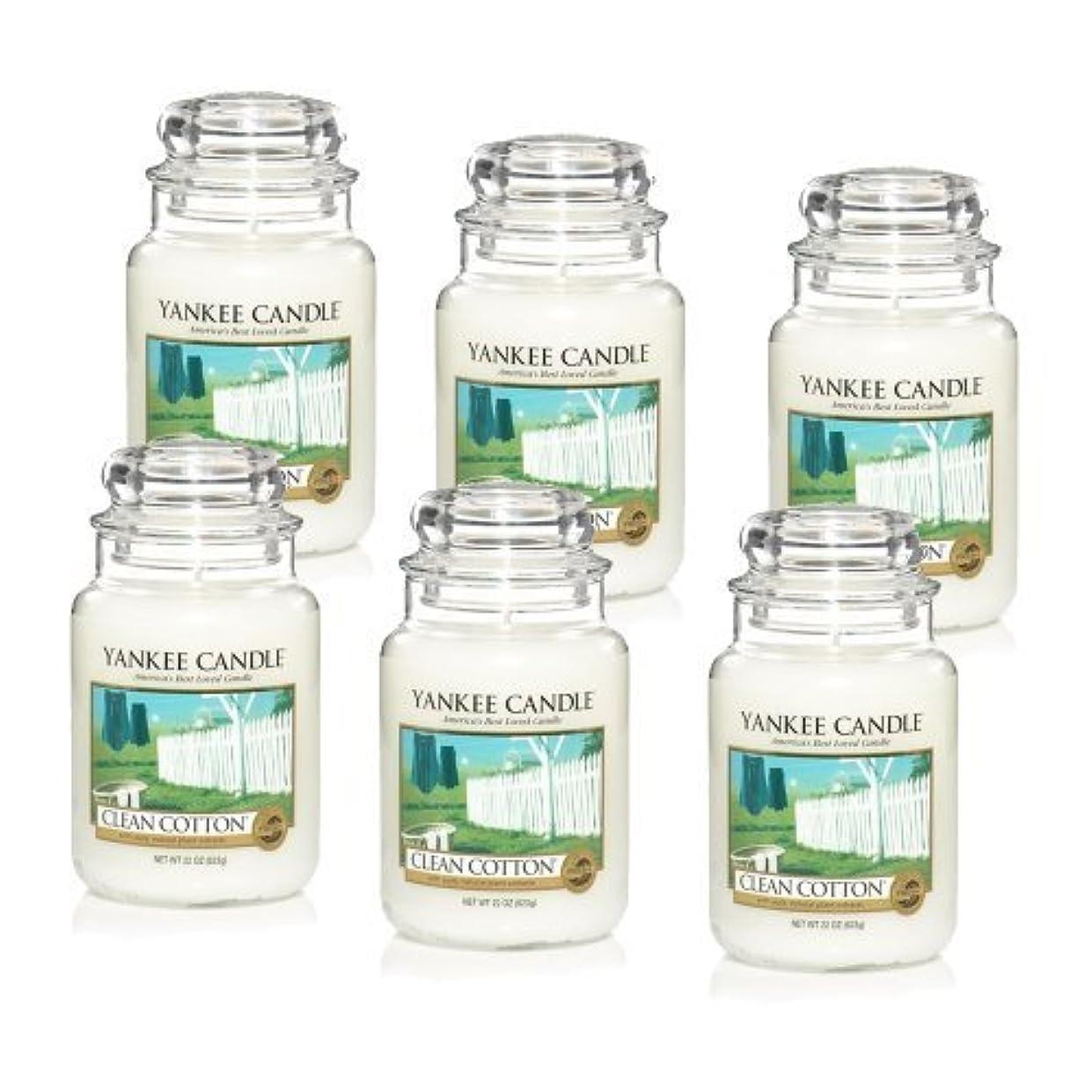 巨大乳裁判所Yankee Candle Company Clean Cotton 22-Ounce Jar Candle, Large, Set of 6 by Amazon source [並行輸入品]
