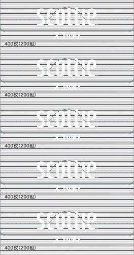 スコッティ ティシュー 400枚 200組 5箱パック