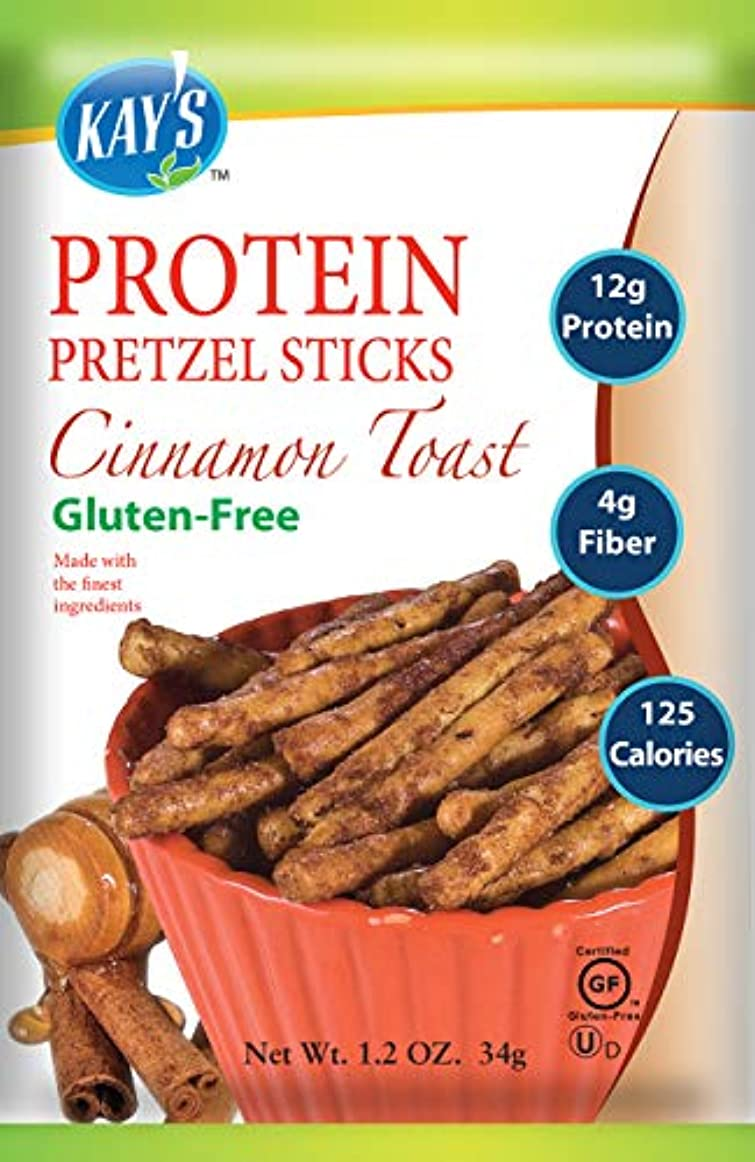 予定インタラクション続編Kay's Naturals Protein Pretzel Sticks, Cinnamon Toast, 1.2 ounces (Pack of 6) by Kay's Naturals [並行輸入品]