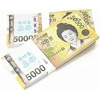 $ 50 , 000 x 100個KRW Paper Moneyノベルティ小道具Magicianアクセサリー、偽造マネー、マネー、ビデオアクセサリー、子供たちのおもちゃ、パーティーの流動性の銀行Bills、安全、おもちゃ