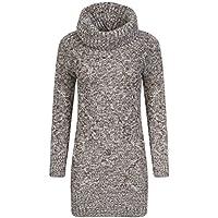 Momo&Ayat Fashions Ladies Melange Yarn Soft Cable Knit Cowl Neck Jumper Dress AUS Size 8-14