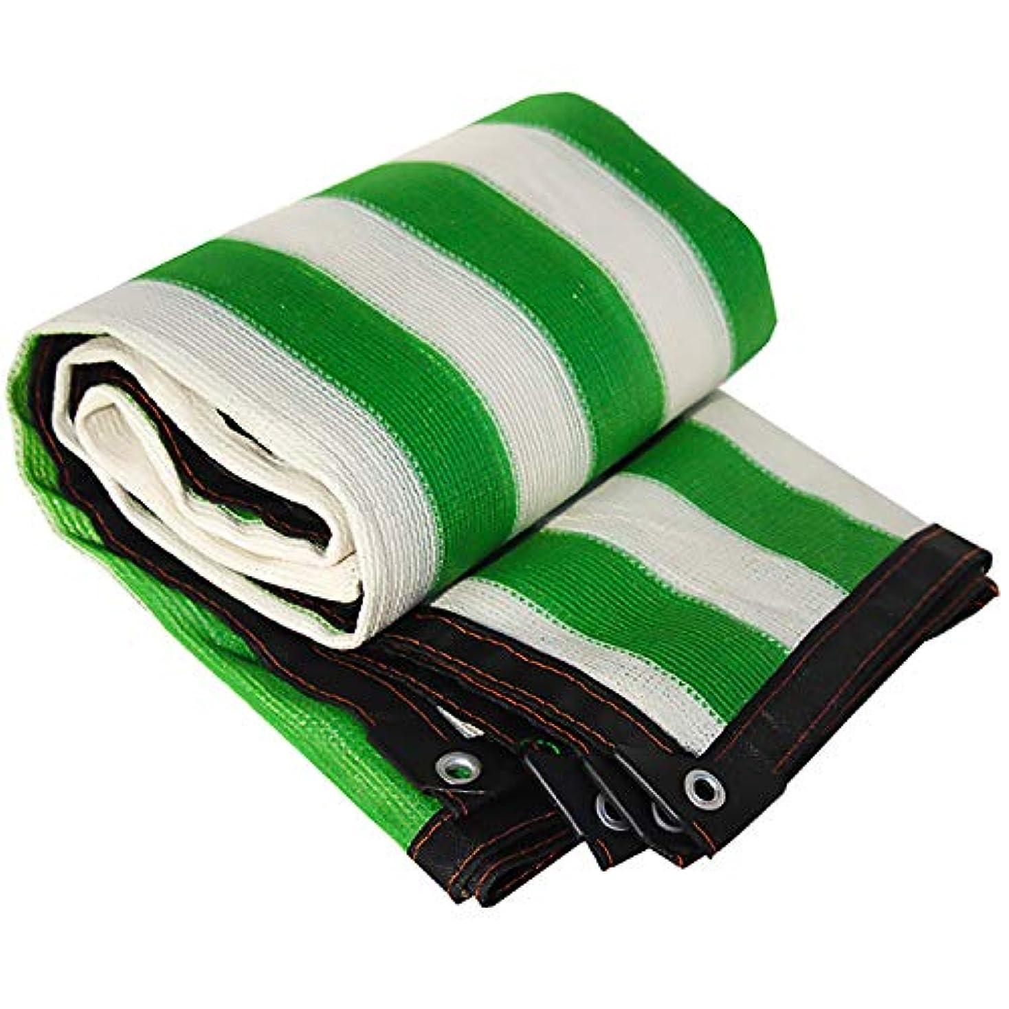 公しょっぱい頑張るサンシェード?シェルター 植物の日陰の布のパーゴラカバーグロメット/防風花パティオ芝生とグリーン&ホワイト90%シェード生地 (Color : Stripe, Size : 19.8x33ft/6x10m)