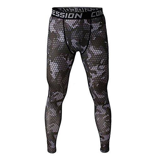 Prettyia メンズ トレーニング ランニング スポーツ ジムパンツ ズボン ソフトタイト ロングパンツ...