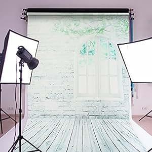 撮影 背景布 厚地 高品質 バックスクリーン 改良版 撮影用 背景シート 写真スタジオ 布バック 全身撮影用 バックペーパー シルク カーテン レンガの壁 窓 5x7ft/1.5x2.1m ( 新しい生地 )