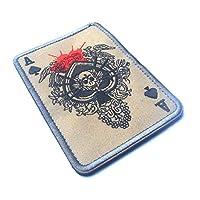 デスカード長方形パッチ刺繍スピードAポーカー戦術パッチミリタリーモラルTAD腕章軍隊布戦闘バッヂ