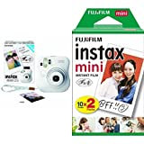 FUJIFILM インスタントカメラ チェキ instax mini 25 ホワイト + フィルムセット