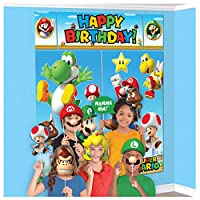 Super Mario Happy Birthday Giant Scene Setters壁デコレーションキットParty Backdrop by Amscan