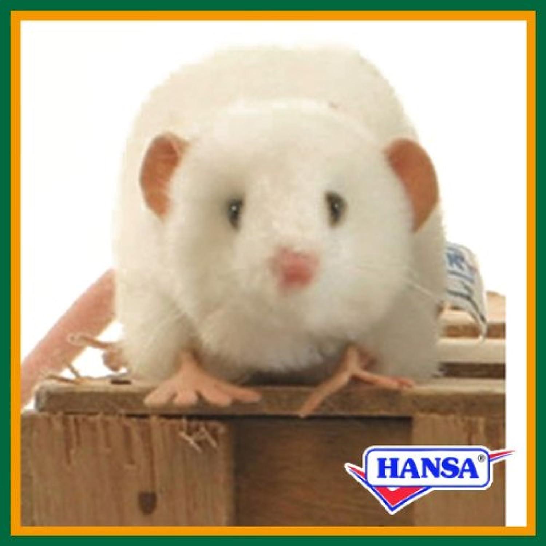 HANSA ハンサ ぬいぐるみ 5576 白ネズミ 27 FAT RAT WHITE