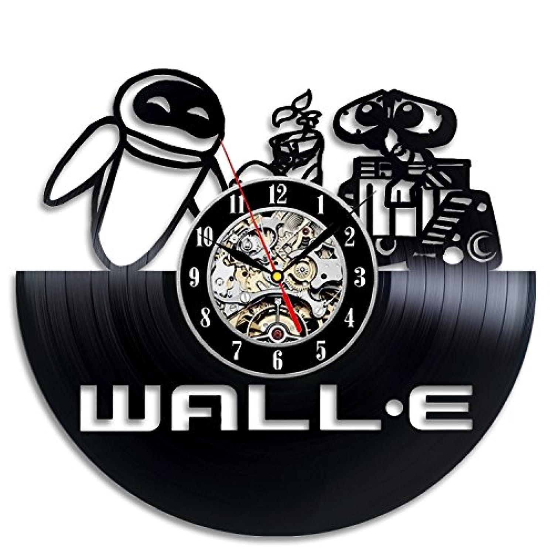 ウォーリー - Wall-E Vinyl Record Wall Clock - Decorate your home with Modern Large Disney Art - Gift for kids, girls and boys - Win a prize for a feedback