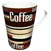 ドイツ KONITZ (コーニッツ) 13-Ounce Coffee Stripes マグ カップ コーヒー 珈琲 紅茶 4個セット 【並行輸入品】