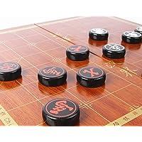 Kreplacement Chineseチェス従来中国象棋アクリル素材38 mm Lサイズアウトドア旅行セット祭ギフト、折りたたみ式チェスボード/ボックス、トップ品質