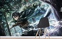アニメの攻撃タイタンの街の壁紙壁画壁印刷デカール壁の壁画 (H) 350 * (W) 245cm A