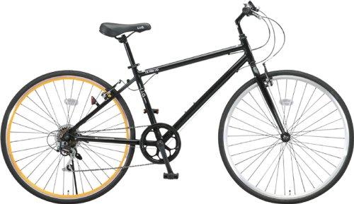 LIG(リグ)700Cシマノ6段変速アルミ製クロスバイク[サムシフト/Vブレーキ/ベル標準装備] CR-7006 LIG ブラック