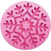 シリコンモールド 雪の結晶 クリスマス 手作り シリコン モールド レジン 樹脂 粘土 型 抜き型 LeafIn