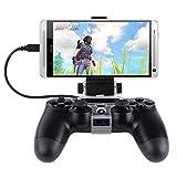 SuRing PS4コントローラー用 スマホマウントホルダー 荒野行動 Android 対応 OTGケーブル付 スマホがゲーム機に変身 スマホホルダー スマートクリップ