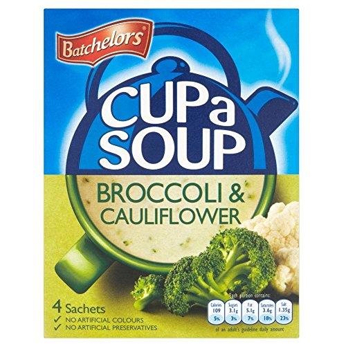 Batchelors Cup a Soup Creamy Broccoli & Cauliflower (4 per pack - 101g) Batchelorsカップ(パックあたり4 - 101グラム)スープクリーミーブロッコリーとカリフラワー