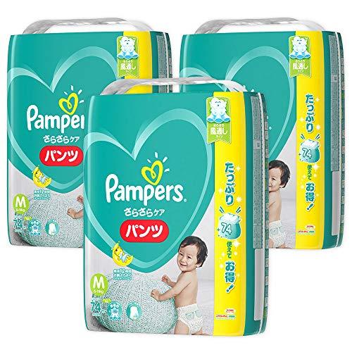 『【ケース販売】 パンパース パンツ M(6~11kg) さらさらパンツ 222枚 (74枚×3)』のトップ画像