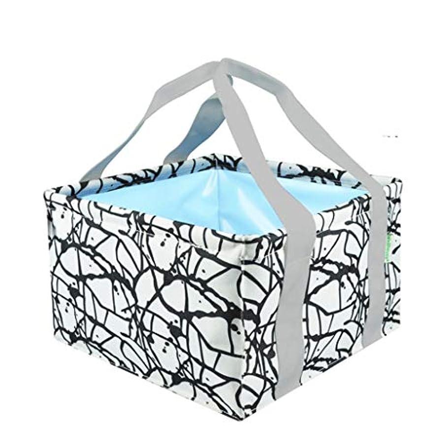 治療について乱闘YUN ポータブル 正方形 折りたたみ式 洗面台 フラワーカラー 洗面台 キャンプ用品 L ホワイト