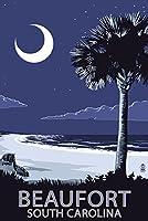 Beaufort , South Carolina–Palmetto Moon 24 x 36 Giclee Print LANT-52107-24x36
