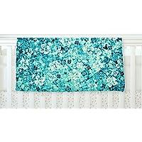 KESS InHouse Ebi Emporium Flower Power in Blue Teal Aqua Fleece Baby Blanket 40 x 30 [並行輸入品]
