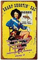 なまけ者雑貨屋 Rodeo Gal ブリキ メタル プレート サイン アンティーク アメリカン ダイナー レトロ インテリア 雑貨 ガレージ 看板