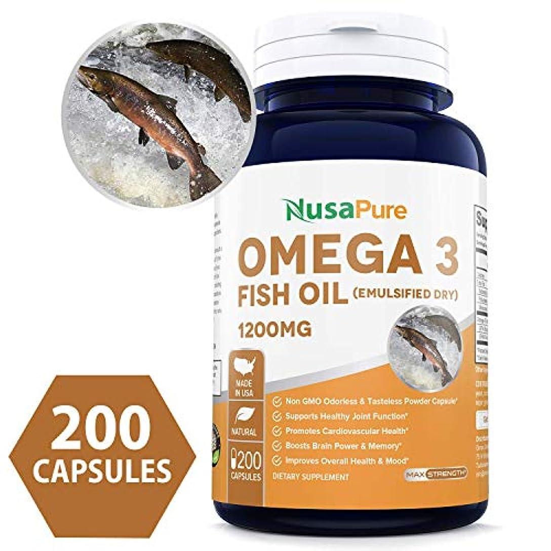 イチゴ枯渇する改修NusaPure Omega 3 Fish Oil 1200mg 200粒
