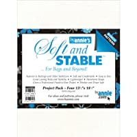 """ByAnnie's Soft And Stable Project Pack 13-1/2""""X18-1/2"""" White-4/Pkg (並行輸入品)"""