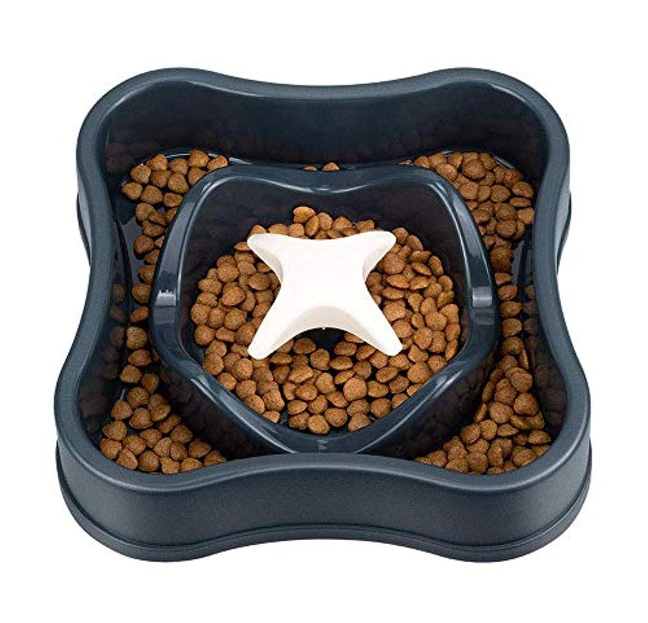 ペットスローフィーダーPP素材迷路インタラクティブ楽しい健康滑り止めウォーターディスペンサー犬猫ユニバーサルボウル(20.5 * 5cm)-black