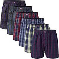 Charles Wilson 6 Pack Men's Premium Woven Check Boxer Shorts